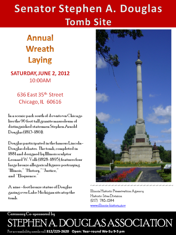 Wreath Laying at Douglas Tomb - June 2 at 10am