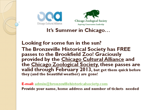 FREE Brookfield Zoo Tickets available...