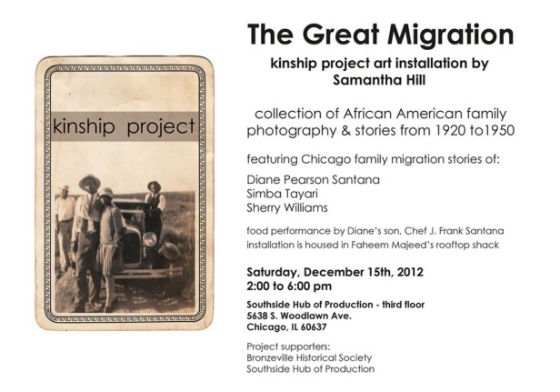 Kinship Project ~ Event at SHop Dec 15, 2012