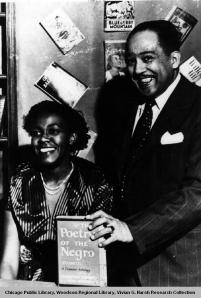 Gwendolyn Brooks and Langston Hughes 1949 from Harsh Collection