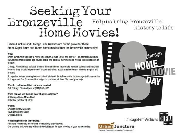 Seeking your Bronzeville Home Movies... Chicago Home Movie Day on Oct. 19