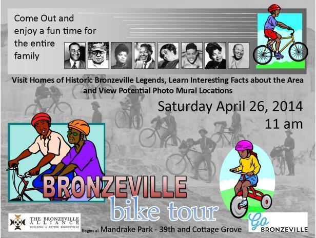 Bronzeville Legends Bike Ride - Sat. April 26, 2014 at 11AM
