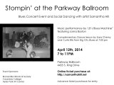 Parkway Ballroom event – Sat April 12, 2014 7pm-11pm
