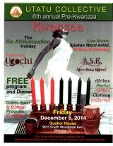 Pre-Kwanzaa Celebration – Friday Dec. 6, 2014 at QuakerHouse