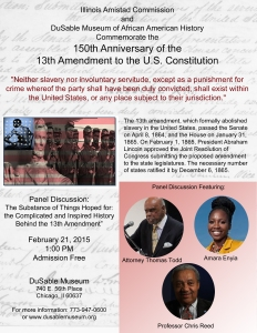 13th Amendment commemoration event