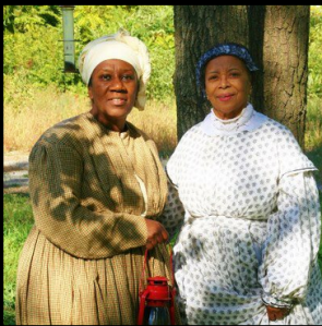 Sherry portrays Millie Cooper and Phillis portrays Mary Richardson Jones - Two Notable African American Freedom fighters