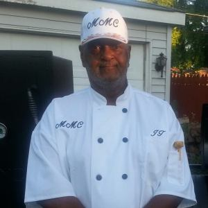 Chef Joe prepares jerk chicken, rib tips and other specialties