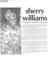 Modern Day Griot – Rolling Out Magazine article featuring Sherry Williams- Jan 3, 2001