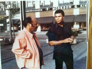 Richard Durham with Muhammad Ali in Chicago