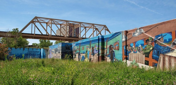 Englewood Heritage Station mural from flickr