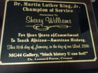 MLK Award to Sherry Williams Jan 2016