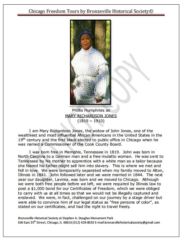 Phillis Humphries as Mary Richardson Jones pg. 1