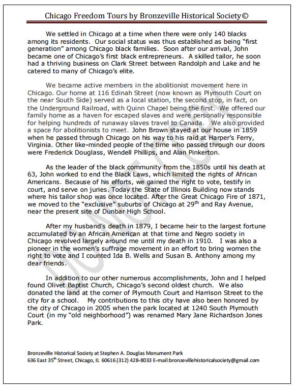 Phillis Humphries as Mary Richardson Jones pg. 2