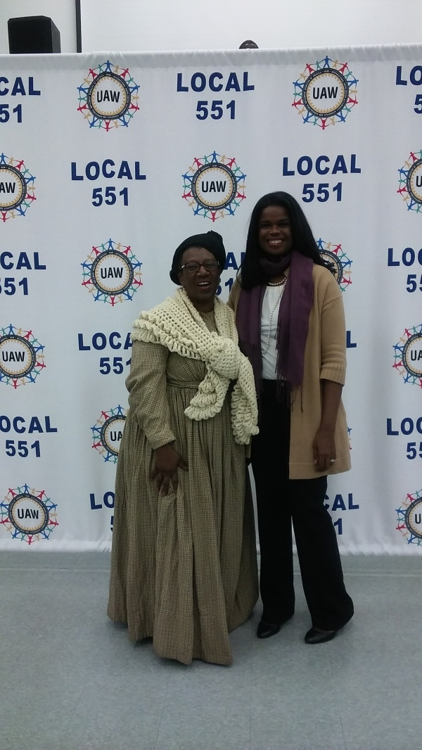 Sherry with Kim Fox at UAW Black History event  2016